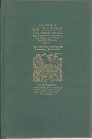 Floresta de varios romances (Valencia 1652): López de Tortajada,