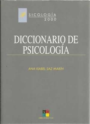 Diccionario de psicología: Saz Marín, Ana