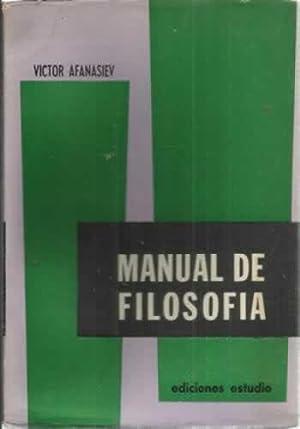 MANUAL DE FILOSOFÍA: AFANASIEV, Victor