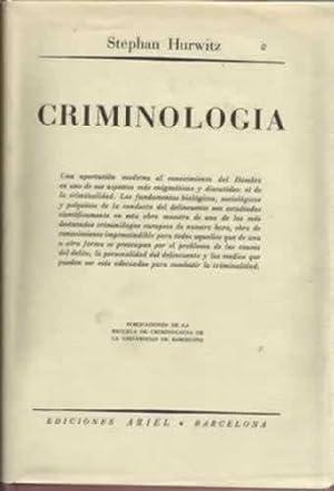 CRIMINOLOGIA: HURWITZ, Stephan