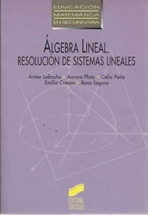 Álgebra lineal. Resolución de sistemas lineales: Labraña, Antón / Plata, Aurora / ...