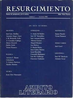 Resurgimiento. Revista del pensamiento y de la estética: VV. AA