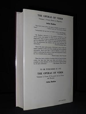 The Operas of Verdi. I. From Oberto to Rigoletto: Julian Budden