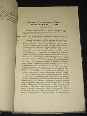 The Register of John Gilbert, Bishop of Hereford (A.D. 1375-1389) [Registrum Johannis Gilbert, ...