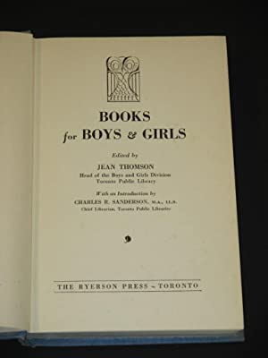 Books for Boys and Girls: Jean Thomson (Ed.)
