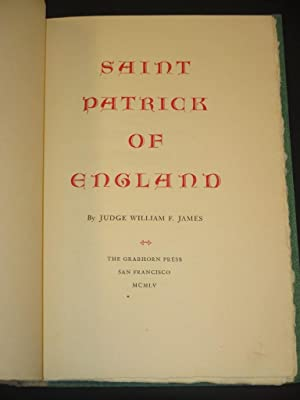 Saint Patrick of England [SIGNED]: William F. James