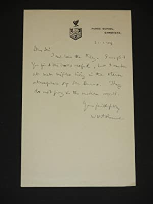 Demonstrations in Greek Iambic Verse [SIGNED]: W.H.D. Rouse