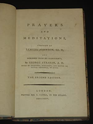 Prayers and Meditations: Samuel Johnson / George Strahan (Ed.)