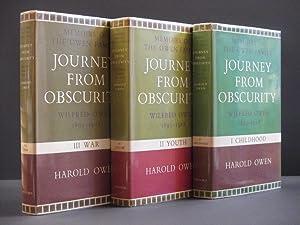 Journey from Obscurity. Wilfred Owen 1893 -: Harold Owen