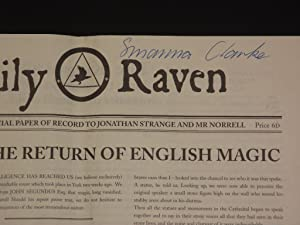 Daily Raven: The Official Paper of Record: Susanna Clarke