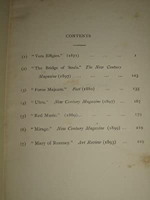 Vera Effigies, and Other Stories in Verse: Compton Reade