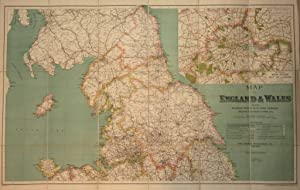 G.W. Bacon & Co. Canvas Backed Map of England and Wales (North Sheet)