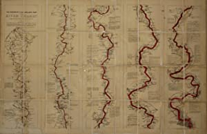 Ravenstein's, Oarsman's and Angler's Map of the River Thames. From its Source to London Bridge on...