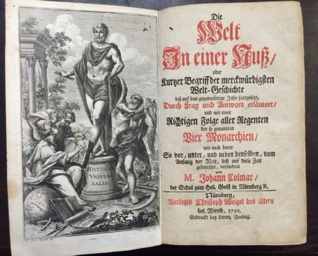 Die Welt in einer Nuß oder kurtzer: Weigel, Christoph -