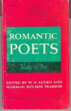 Romantic Poets: Blake to Poe: Auden, W. H.;