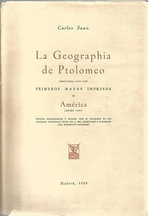La Geographia de Ptolomeo. Ampliada con los: Sanz, Carlos