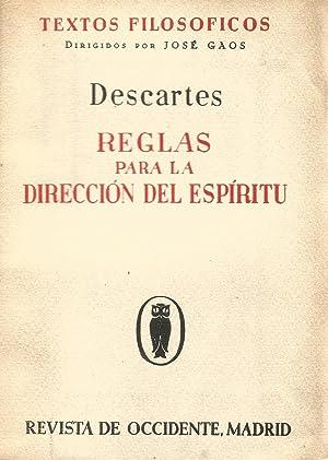 Reglas para la dirección del Espíritu: Descartes
