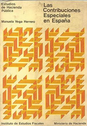 Las contribuciones especiales en España: Vega Herrero, Manuela