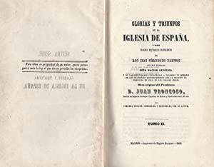 Glorias y triunfos de la Iglesia de: Troncoso, Juan