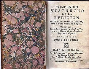 Compendio histórico de la Religión. Tomo Segundo: Pintón, Josef (Maestro