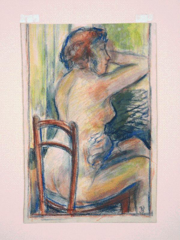 Original Pastel Drawing of a Seated Nude, attributed to Pierre Bonnard (1867-1947) Bonnard, Pierre Fine Softcover