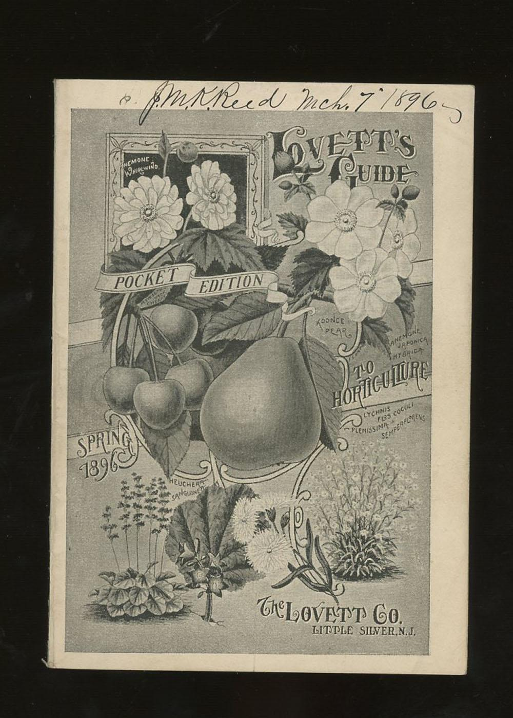 Lovett's Guide To Horticulture, Pocket Edition, Spring 1896 The Lovett Co Very Good Softcover