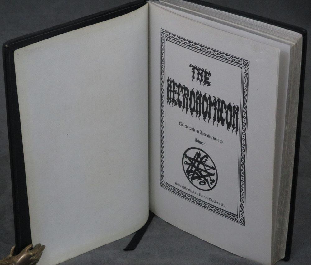 The Necronomicon, one of 666 copies: Simon (ed.) (H. Barnes) (H. P. Lovecraft) (Mad Arab Abdul ...