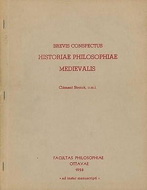 """Brevis Conmspectus Historiae Philosophiae Medievalis; """"Ad Instar Manuscripti"""": Stroick, ..."""