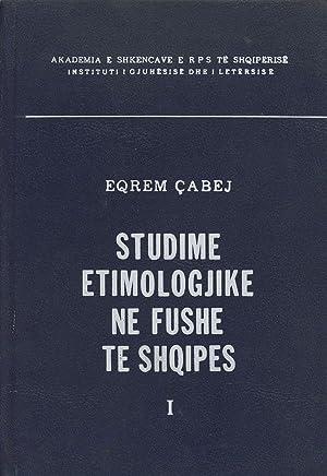 Studime Etimologjike ne Fushe te Shqipes, Bleu I.: Cabej, Eqrem