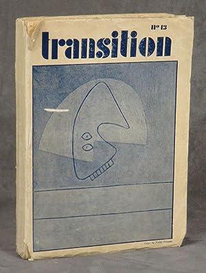 transition number 13 -- American Number, Summer,: Jolas, Eugene (ed.)
