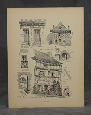 Domestic Architecture in Rural France; Sketches in Lithograph, Drypoint, Pencil, Wash, of Small ...