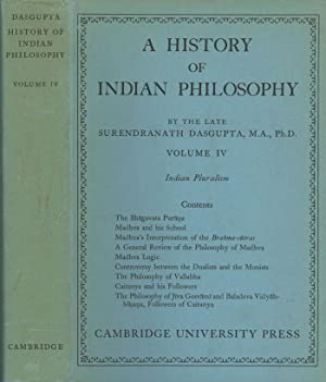 A History of Indian Philosophy, Volume IV: Dasgupta, Surendranath