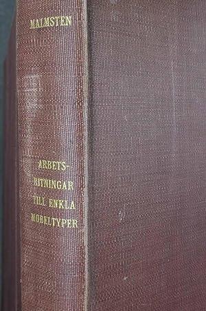 Arbetsritningar Till Enkla Mobeltyper: Kartong I-4: Malmsten, Carl