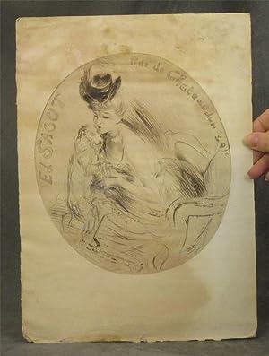 Single sheet monochrome lithograph, ca. 1900, by Ed. Sagot: Sagot, Ed