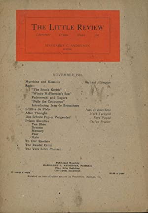 The Little Review, Vol. III (3) no. 7, November 1916: Anderson, Margaret, ed. Ezra Pound, Richard ...