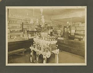 Old photograph (1890s?) from grocery store in Parkersburg, WV: n/a