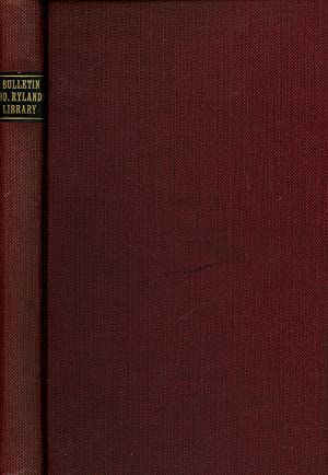 "Bulletin of the John Rylands Library Manchester; Vol. 4, No. 1; May-August 1917; ""James Hope ..."