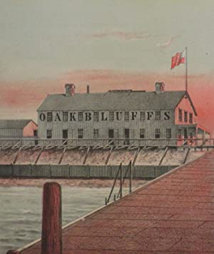 The First Hotel Erected by the Oak Bluffs Land & Wharf Co. 1867 (chromolithograph print): C. W....