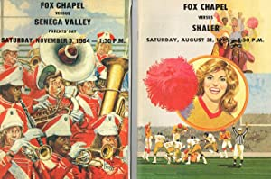 Lot of 9 Fox Chapel High School Football Programs (For Games in the 1973, 1976, 1979, 1980, 1982, ...