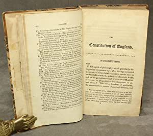 The Constitution of England or an account of the English Government.: De Lolme, J. L.