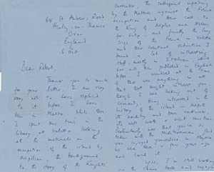 Group of 2 handwritten letters from Christopher Hibbert to Robert Cowley, 1968: Christopher Hibbert...