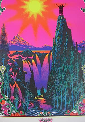 "Garden of Eden"" Psychedelic Blacklight Poster: Day, L.S."