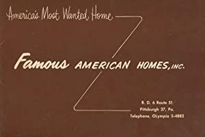 Brochure for Famous American Homes, INC: Famous American Homes, INC