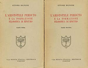 L'Aristotele perduto e la formazione filosofica di: Bignone, Ettore