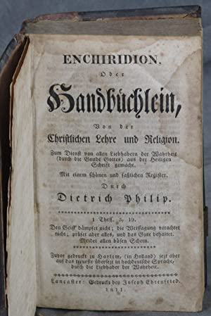 Enchiridion, doer, Handbuchlein, Bon der Christlichen Lehre und Religion. Zum Dienst von allen ...