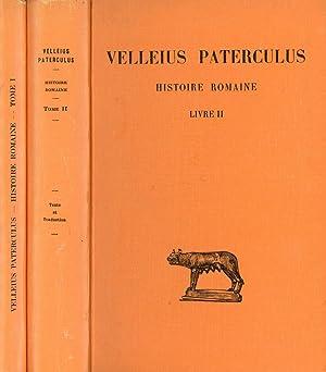 Velleius Paterculus: Histoire Romaine, 2 vols.--Tome I,: Hellegouarc'h, Joseph; Velleius