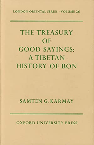 The Treasury of Good Sayings: A Tibetan: Karmay, Samten G.