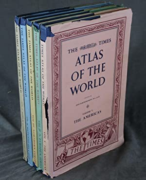 The Times Atlas of the World: Mid-Century Edition--Volumes 1-5 (Five volume complete set)