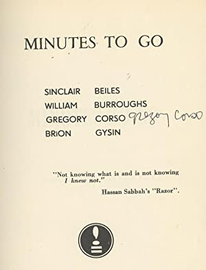 Minutes to Go, SIGNED by Gregory Corso: Beiles, Sinclair; William