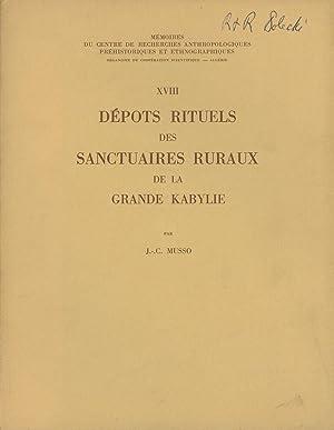 Depots Rituels des Sanctuaires Ruraux de la: Musso, J.-C.; Jean-Claude